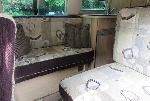 Auto-Sleeper Topaz 2015 bench-seat
